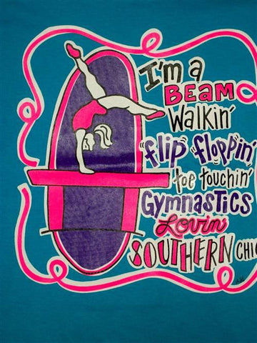 Southern Chics Funny Gymnastics Sweet Girlie Bright T Shirt