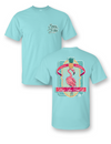 Sassy Frass Comfort Colors Keep your Head Up Flamingo Pineapple Bright Girlie T Shirt