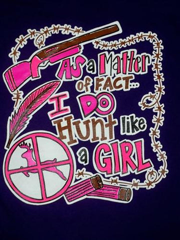Southern Chics Funny Hunt Like a Girl Deer Sweet Girlie Bright T Shirt
