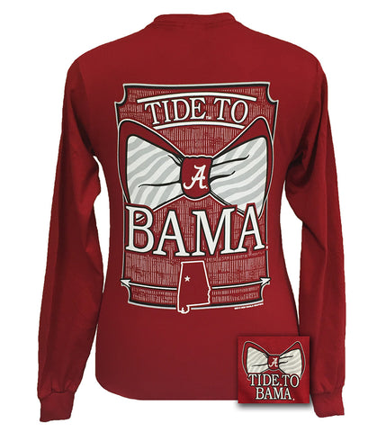 Alabama Crimson Tide Tied To Bama Big Bow Long Sleeve T Shirt