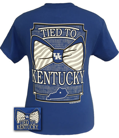 UK Kentucky Wildcats Big Blue Preppy Tied To Big Bow Girlie Bright T Shirt - SimplyCuteTees