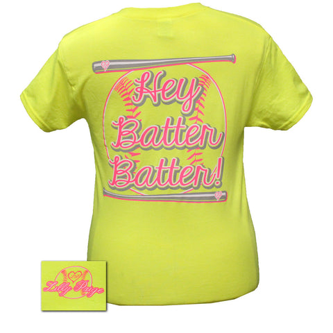 Bjaxx Lilly Paige Preppy Softball Hey Batter Sports Bright T Shirt - SimplyCuteTees