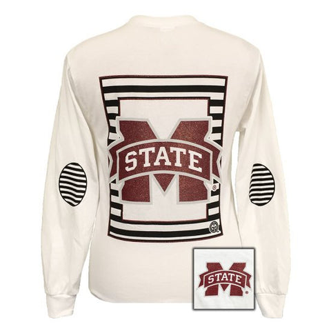 MSU Mississippi State Bulldogs Glitter Logo Long Sleeves T Shirt