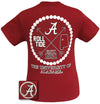 Alabama Crimson Tide Arrow Pearls State Girlie Bright T Shirt - SimplyCuteTees