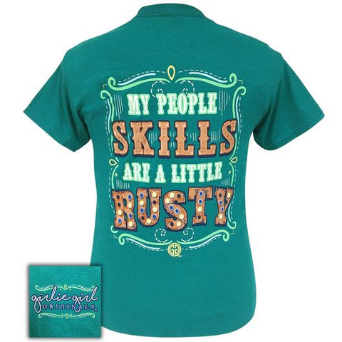 Girlie Girl Originals Preppy People Skills Are Rusty T-Shirt