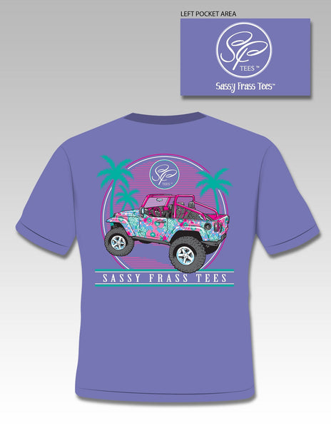 Sassy Frass Collection Jeepin Palm Tree Jeep Vacation