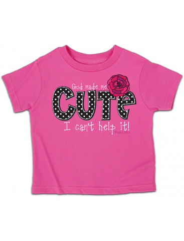 Cherished Girl God Made Me Cute Flower Christian Toddler Youth Bright T Shirt - SimplyCuteTees