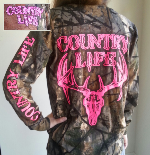 Country Life: Country Life Outfitters Pink Bone Realtree Camo Deer Skull