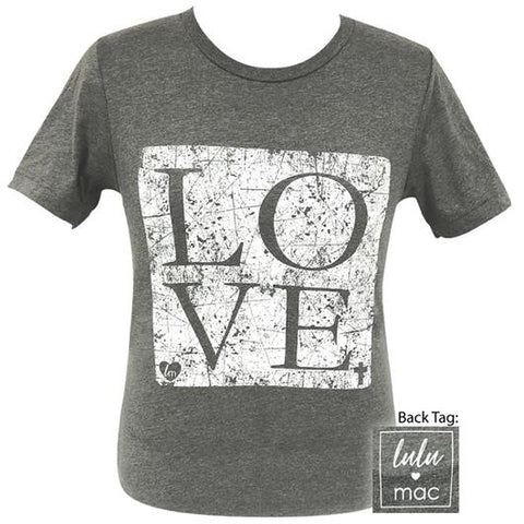 Girlie Girl Originals Lulu Mac Preppy Love Distressed T-Shirt