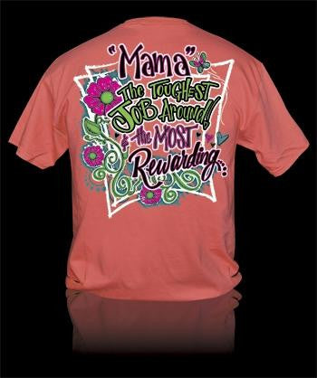 Sweet Thing Funny Mama Toughest Job Mom Momma Girlie Bright T Shirt - SimplyCuteTees