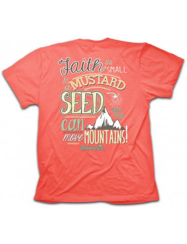 Cherished Girl Faith Mustard Seed Move Mountains Girlie Christian Bright T Shirt - SimplyCuteTees