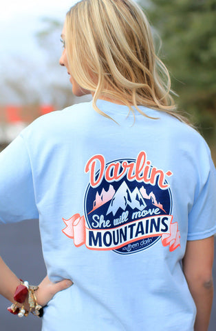 Southern Darlin She Will Move Mountains Bright Girlie T-Shirt - SimplyCuteTees