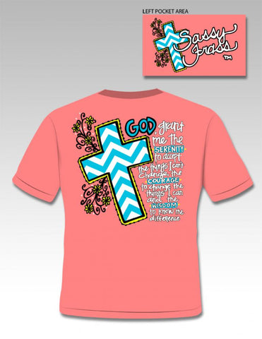Sassy Frass Funny Serenity Cross Chevron Sweet Bright T Shirt