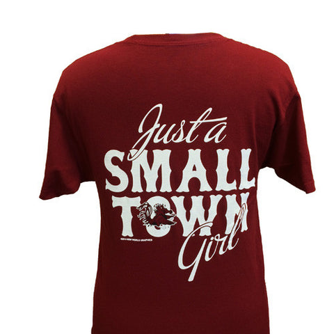 New South Carolina Gamecocks Small Town Girl Girlie Bright T Shirt
