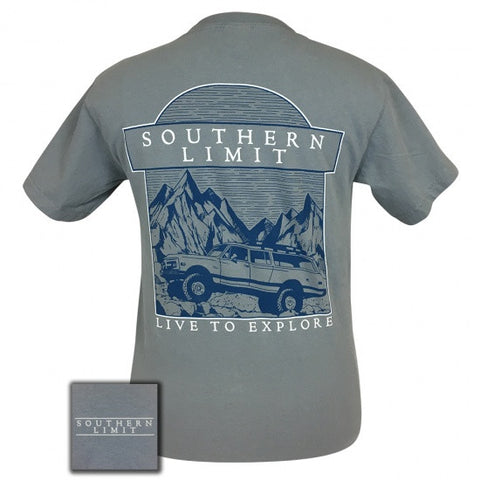 Southern Limits Explore Jeep Unisex Comfort Colors T-Shirt - SimplyCuteTees