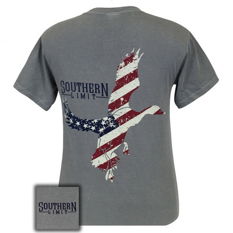 Southern Limits Lock Em Up American Flag USA Comfort Colors Unisex T-Shirt - SimplyCuteTees