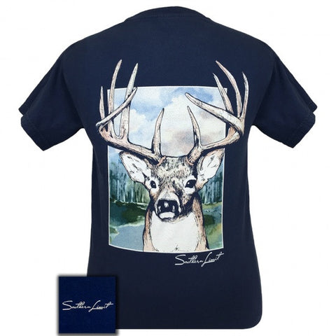 Southern Limits Buck Deer Unisex Comfort Colors T-Shirt - SimplyCuteTees
