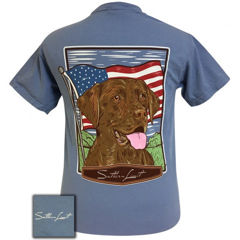 Southern Limits USA American Dog Unisex Comfort Colors T-Shirt - SimplyCuteTees
