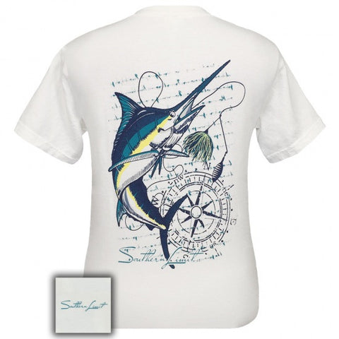 Southern Limits marlin Swordfish Fish Compass Comfort Colors Unisex T-Shirt - SimplyCuteTees