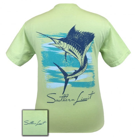 Southern Limits Sailfish Country Comfort Colors Unisex T-Shirt - SimplyCuteTees
