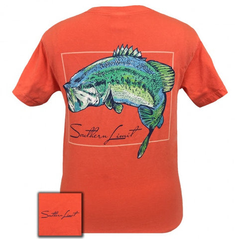 Southern Limits Country Watercolor Bass Comfort Colors Unisex T-Shirt