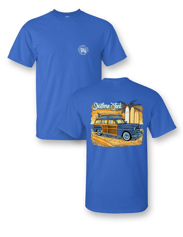 Southern Jack Apparel Beach Trip Surf Woody Comfort Colors Unisex Frass Bright T Shirt