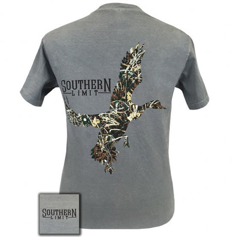 Southern Limits Lock Em Up Camo Duck Bird Comfort Colors Unisex T-Shirt - SimplyCuteTees
