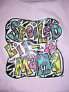 Southern Chics Funny Lil Girl Spoiled Mama Toddler Youth Bright T Shirt