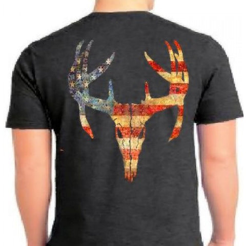 Country Life Outfitters Vintage USA Deer Skull Unisex T-Shirt - SimplyCuteTees