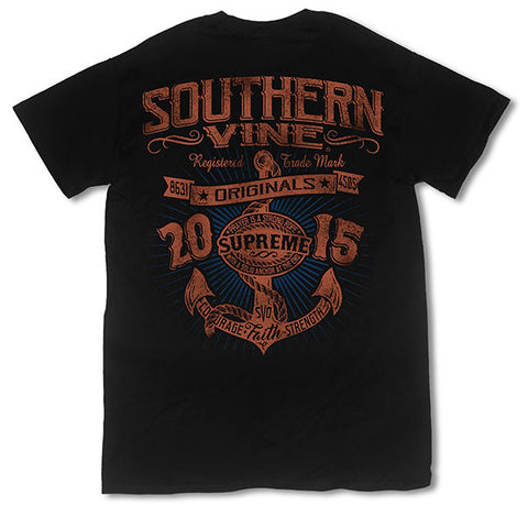 Southern Vine Originals Supreme Anchor Black T-Shirt
