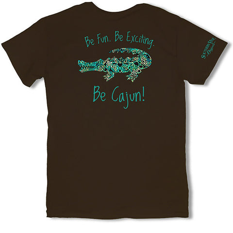 Southern Vine Originals Be Cajun Gator Chocolate Unisex T-Shirt