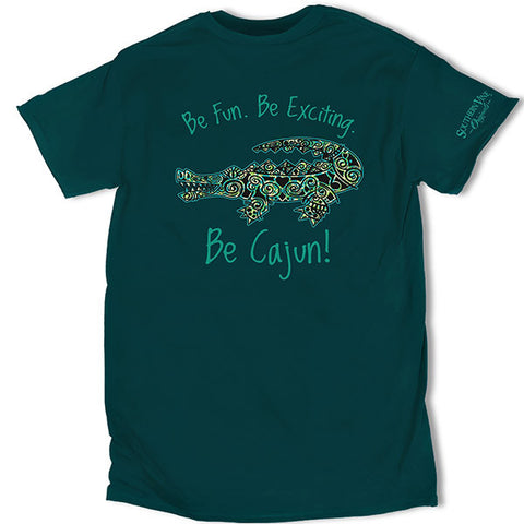 Southern Vine Originals Be Cajun Gator Blue Unisex T-Shirt