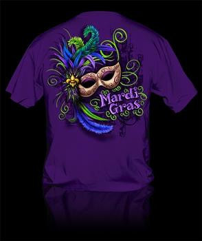 Sweet Thing Funny Mardi Gras Mask Beads Girlie Bright T-Shirt - SimplyCuteTees