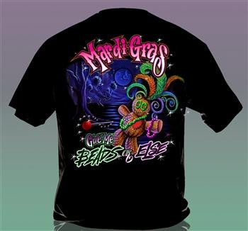 Sweet Thing Funny Mardi Gras Voodoo Beads Girlie Bright T-Shirt