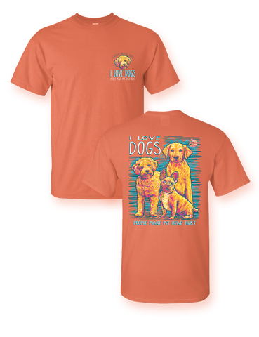 Sassy Frass I Love Dogs People Make My Head Hurt Comfort Colors Bright Girlie T Shirt
