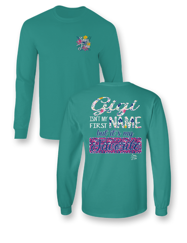 Sassy Frass Gigi Isn't my First Name but it's my Favorite Long Sleeve Bright Girlie T Shirt