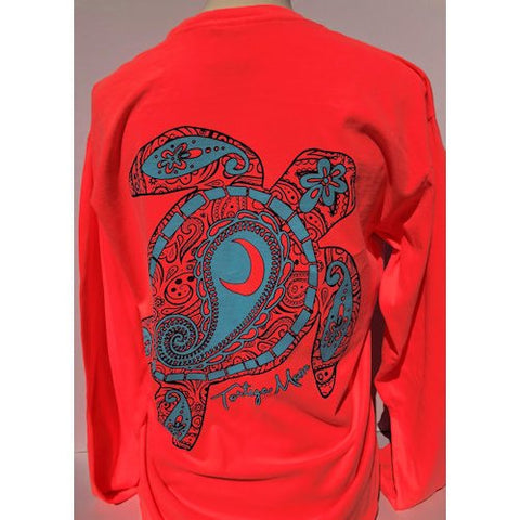 5cb12cac Southern Attitude Tortuga Moon New Moon Comfort Colors Long Sleeve T-Shirt