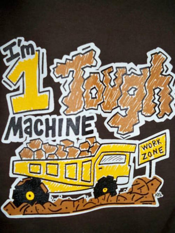 Southern Chaps Funny 1 Tough Machine Boy Youth Kids Bright T Shirt