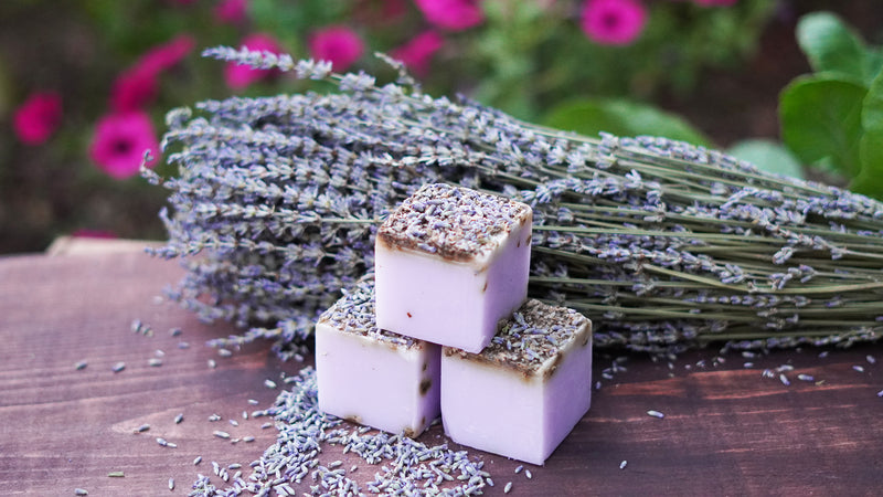 Organic Handmade Lavender, Rose and Jasmine Soaps (Pack of 2)