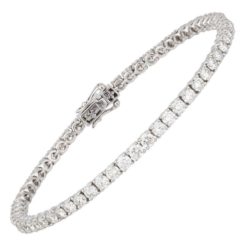 Diamond Tennis BRACELET 18K White Gold