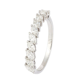 Classic Diamond White Gold 18K Wedding Band Ring For Her