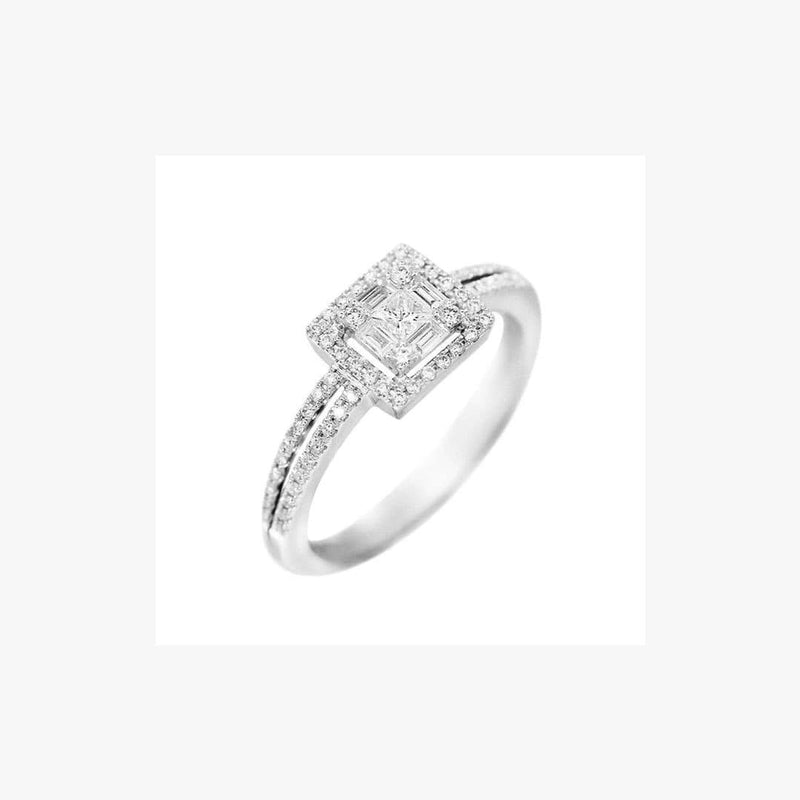 Classic Diamond White Gold Ring