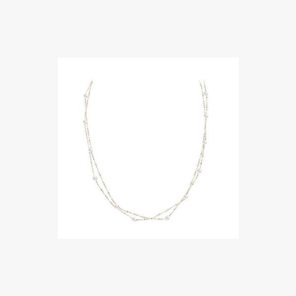Fabulous and Modern Precious Pearl White Diamond Yellow Gold Necklace