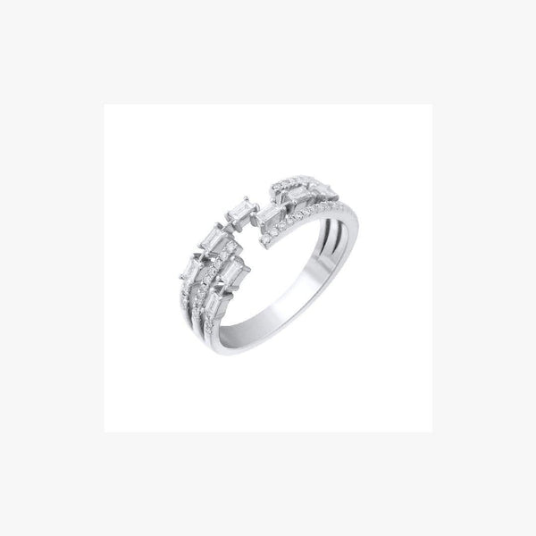 Fashion Diamond White Gold 18 Karat Ring