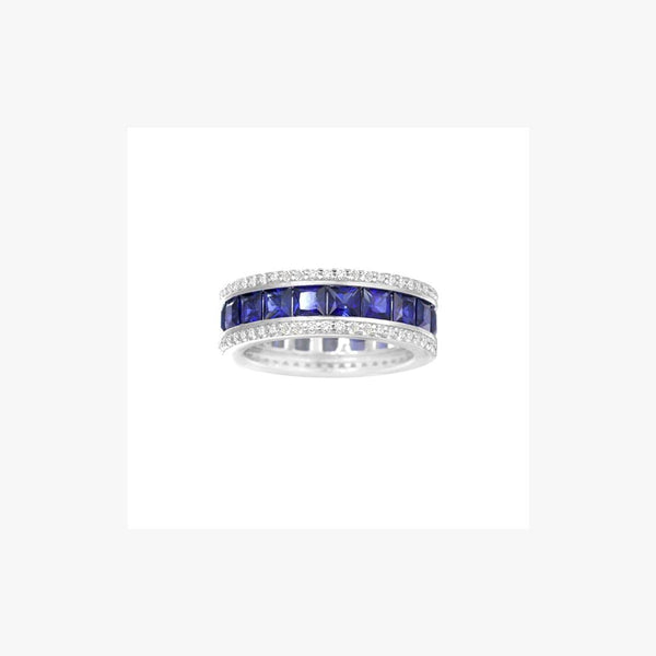 Imitation Diamond Silver Band Ring