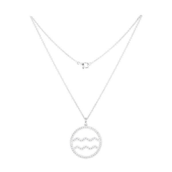 Aquarius Silver Necklace - Natkina