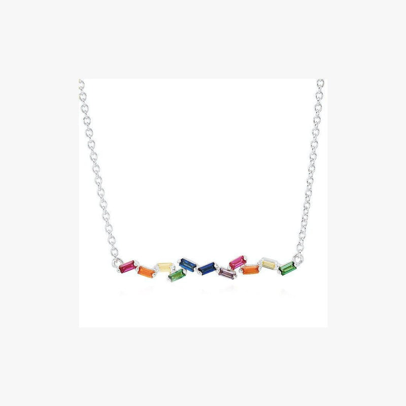 Candy Rainbow Silver Necklace - Natkina