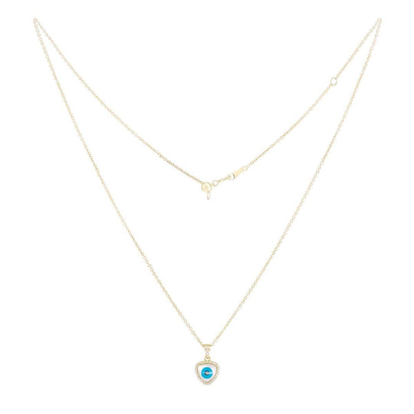 Cat Eye Gold Necklace - Natkina