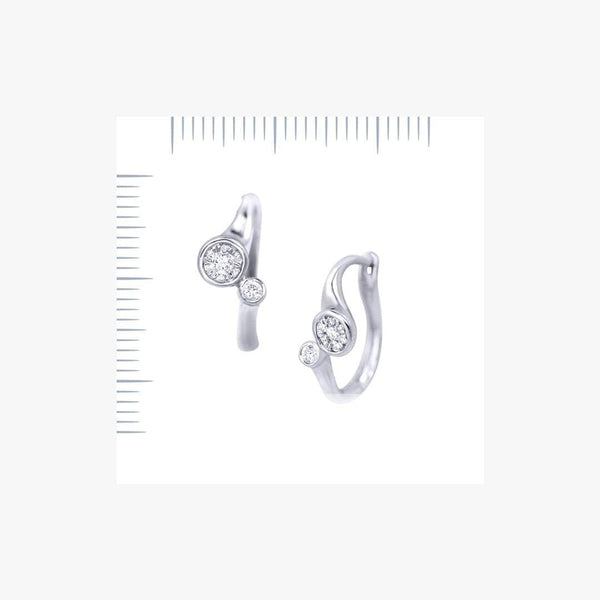 Classic Diamond White Gold Lever-Back Earrings for Her - Natkina