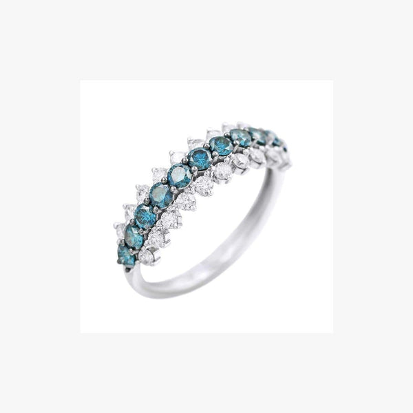 Classic Diamond White Gold Ring - Natkina